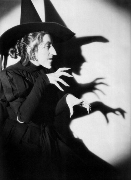 Margaret Hamilton as the Wicked Witch in the Wizard of Oz (1939)